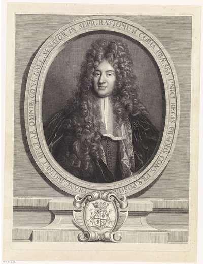 Portret van de jurist François Brunet