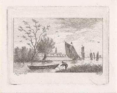 Man bij een boot