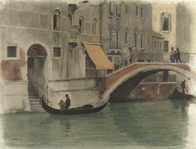 Image from object titled Brug over een kanaal te Venetië