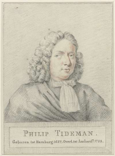 Portret van de schilder Philip Tideman