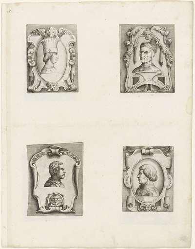 Portret van Borso d'Este; Portret van doge Antonio Grimani; Portret van Giovanni de'Medici, dalle Bande Nere; Portret van Alfonso V van Aragon; Portretten van Europese heersers