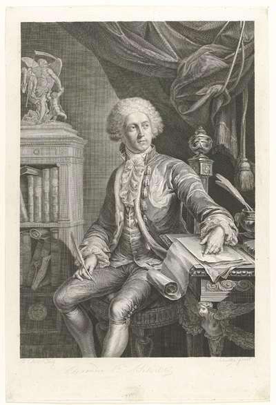 Portret van de Russische gezant aan het Saksische hof en geleerde vorst Alexander Beloselsky