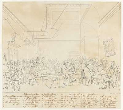 Identificatie van de portretten op het schilderij De Tekenzaal van de Maatschappij Felix Meritis te Amsterdam