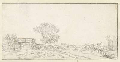 Image from object titled Landschap met een boom bij een brug