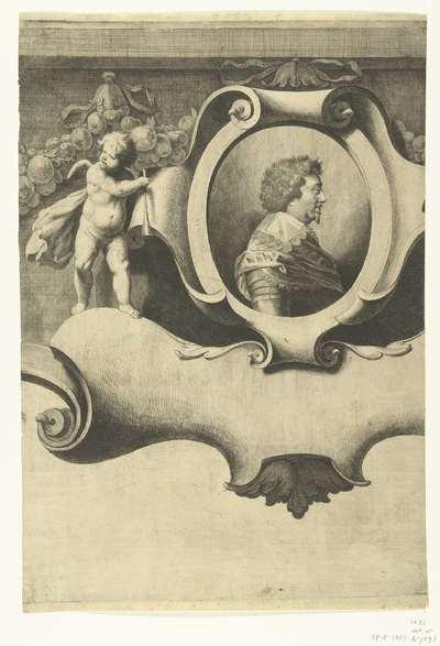 Beleg van Breda (blad met portret van Frederik Hendrik), 1637