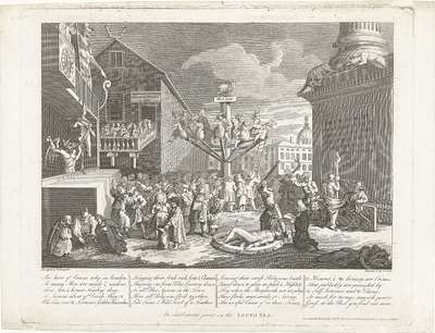 Allegorie op de Zuidzee-compagnie, 1720; An emblematic print on the South Sea; Het Groote Tafereel der Dwaasheid (extra stukken)