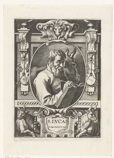 De evangelist Lucas; S. Lvcas; SS. Apostolorum et Evangelistorum Icones
