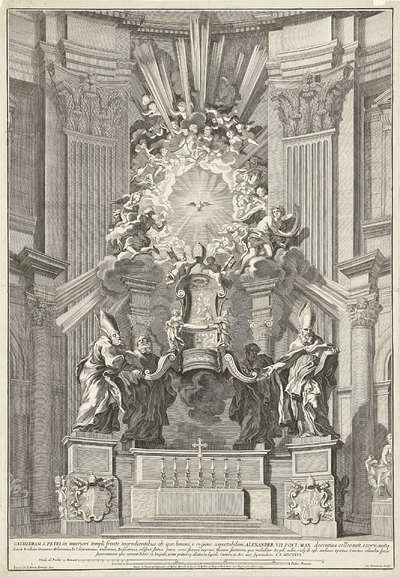 Heilige Stoel van Petrus in de Sint Pieter; Cathedram S. Petri in (...) Aere auro superinducto