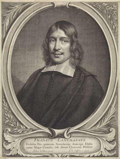 Portret van de geestelijke Thaddeus Landman