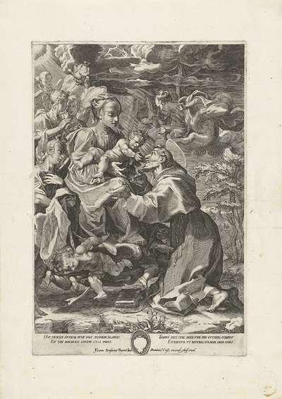 Maria met Kind en een heilige