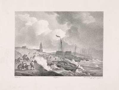 Storm te Scheveningen, 1825