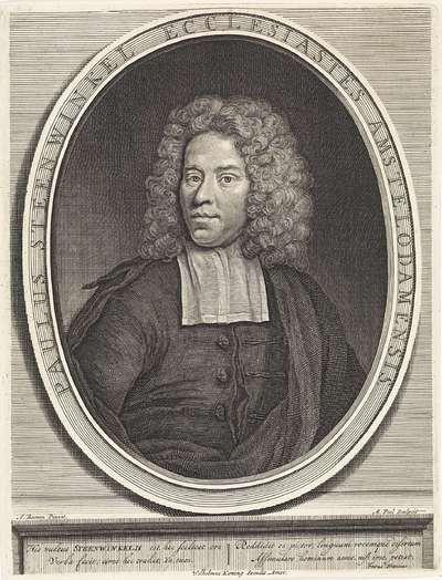 Portret van predikant Paulus Steenwinkel
