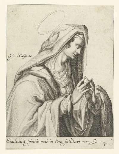 Maria als Mater Dolorosa; Biddende Maria