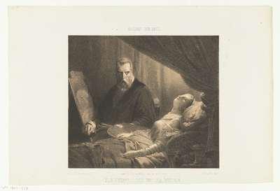 Tintoretto aan het sterfbed van zijn dochter; Le Tintoret et sa fille; Salon de 1851