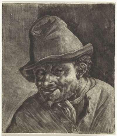 Buste van een boer met een hoed