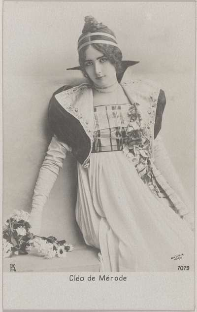 Portret van de danseres Cléo de Mérode
