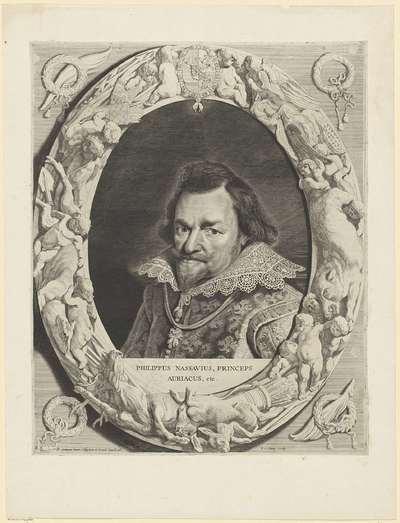 Portret van Filips Willem, prins van Oranje; Comites Nassoviae