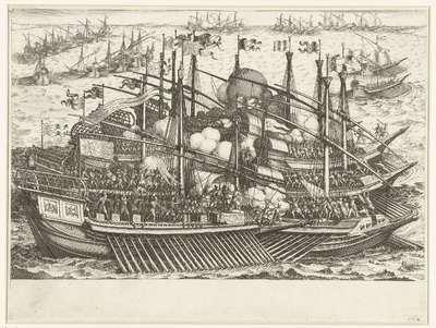 Eerste zeeslag van de vloot van Ferdinando I de' Medici tegen de Turkse vloot; Leven van Ferdinando I de' Medici