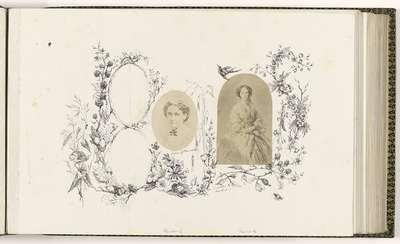 Fotoreproductie van een geschilderd portret van Maria Alexandrovna, keizerin van Rusland