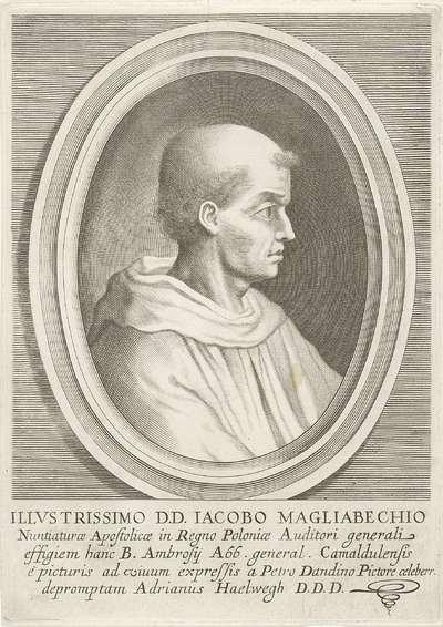 Portret van Jacobus Magliabechius