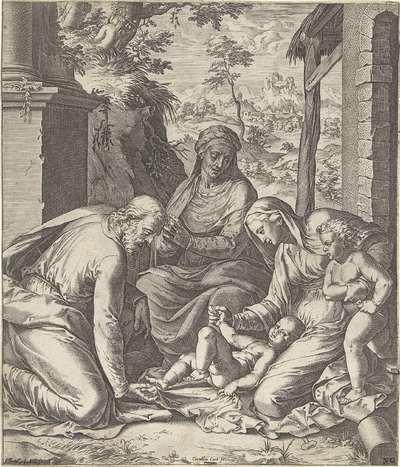 Heilige Familie met Anna en Johannes de Doper als kind