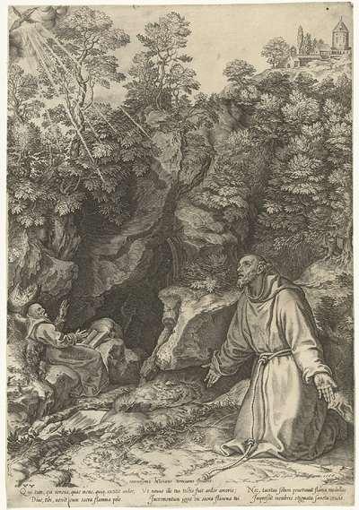 Franciscus ontvangt de stigmata