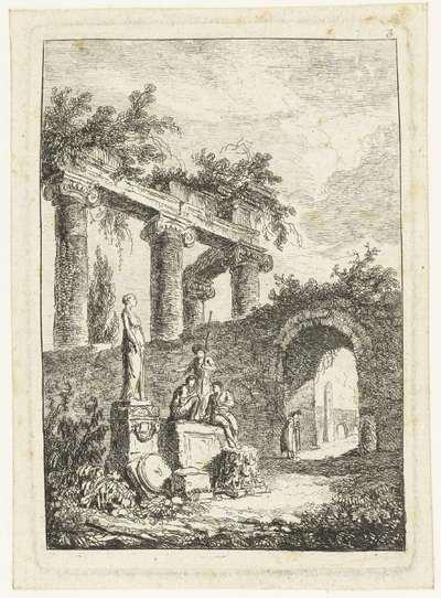 Een beeld voor de ruïne; Les Soireés de Rome; Romeinse gezichten