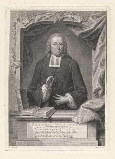 Portret van Petrus Noordbeek