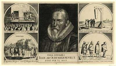 Blad met voorstellingen van de belangrijkste gebeurtenissen in het jaar 1619