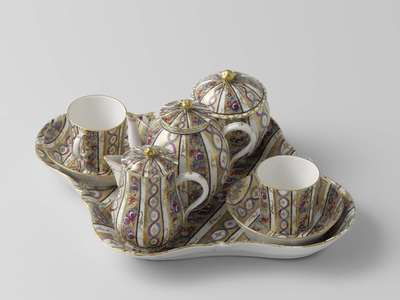 Image from object titled Tea service for two people (tête-à-tête)