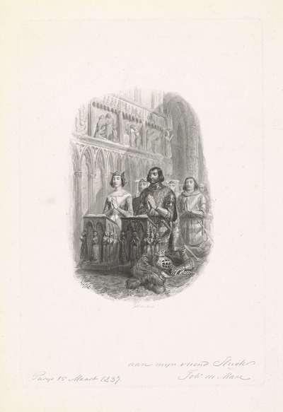 Ridder en dame tijdens kerkdienst
