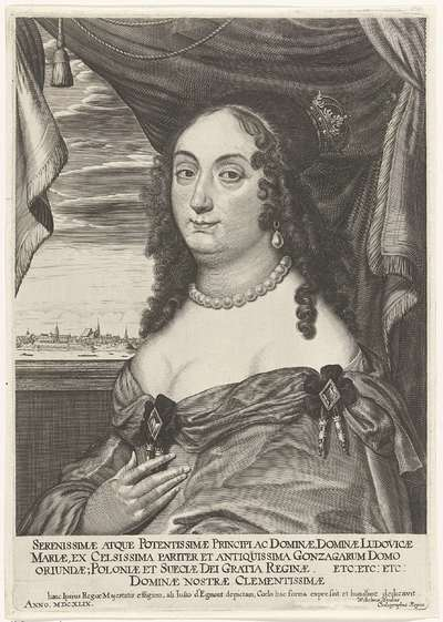 Portret van Maria Ludovica Gonzaga; Serenissimae atque Potentissimae (...)