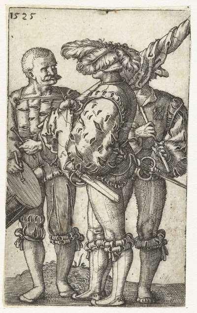 Image from object titled Trommelaar, vaandeldrager en fluitist