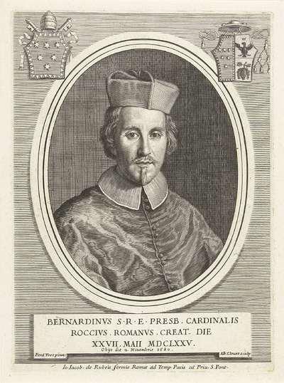 Portret van kardinaal Bernardino Rocci; Effigies Cardinalium nunc viventium