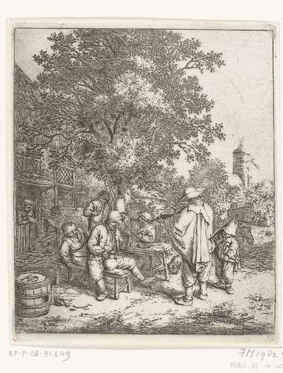 Vioolspeler en een jonge lierdraaier, ca. 1650