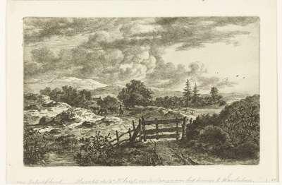Een herder met koeien op de weg naar Waalsdorp
