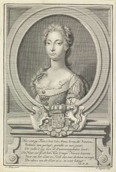 Portret van Anna van Hannover