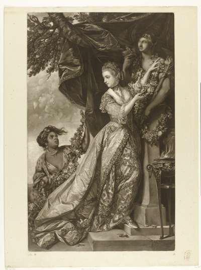 Portret van Lady Elisabeth Keppel