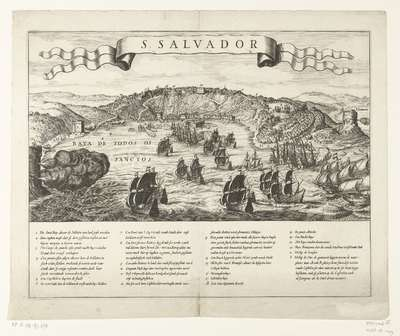 Verovering van San Salvador in Brazilië door admiraal Jacob Willekes, 1624; S. Salvador