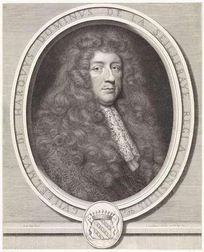 Portret van de Bretonse schatmeester Guilaume de Harouys de la Seilleraye