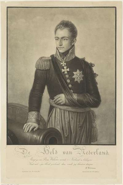 Portret van Willem II, koning der Nederlanden
