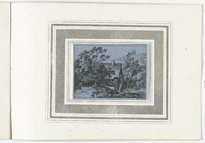 Blekerij bij een watermolen; Landschappen naar Kobell; 120 Radierungen nach F. Kobell