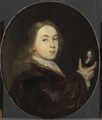 Image from object titled Johannes Bakhuysen (1683-1731). With a Miniature Portrait of his Father Ludolf