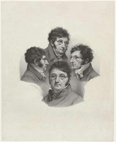 Vier zelfportretten; Quadruple Autoportraits