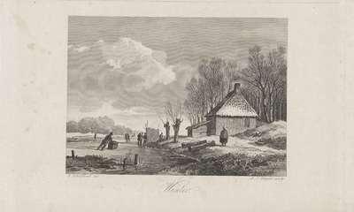 Winterlandschap met boerderij; Winter