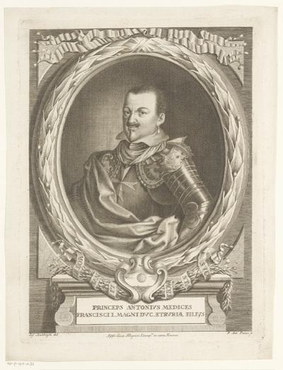 Portret van Antonio de' Medici; Portretten van de familie de' Medici