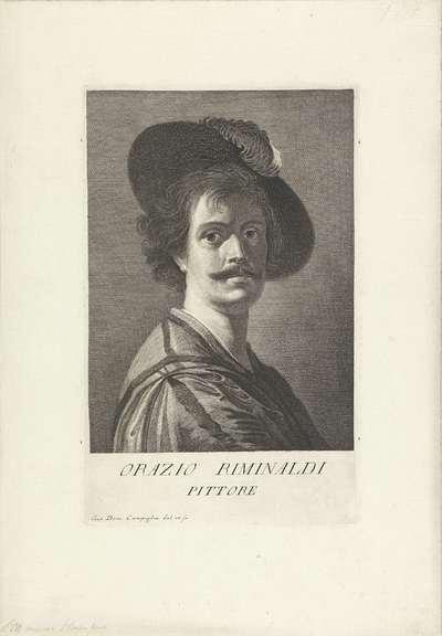 Portret van kunstenaar Orazio Riminaldi; Portretten van kunstenaars