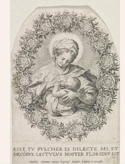 Maria zoogt het Christuskind