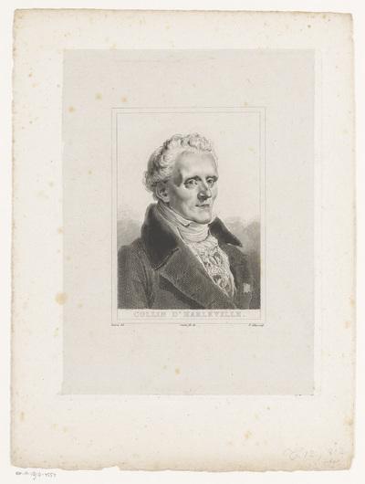 Portret van Jean-François Collin d'Harleville; Collin d'Harleville