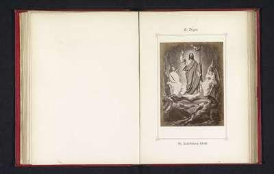 Fotoreproductie van een schilderij, voorstellende de Opstanding van Christus; Die Auserstehung Christi